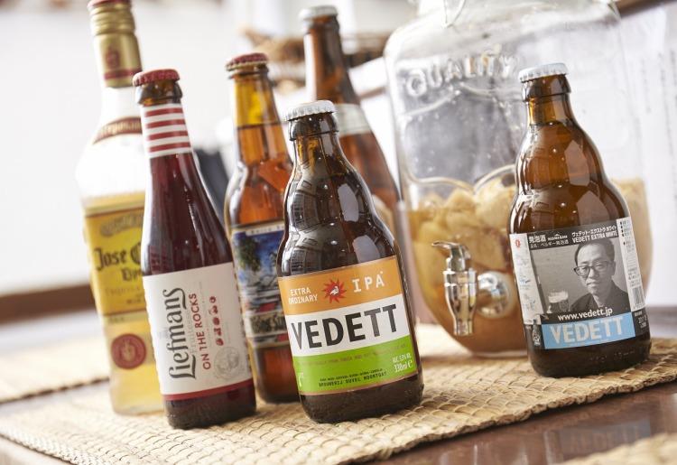 クラフトビール、自家製サングリア