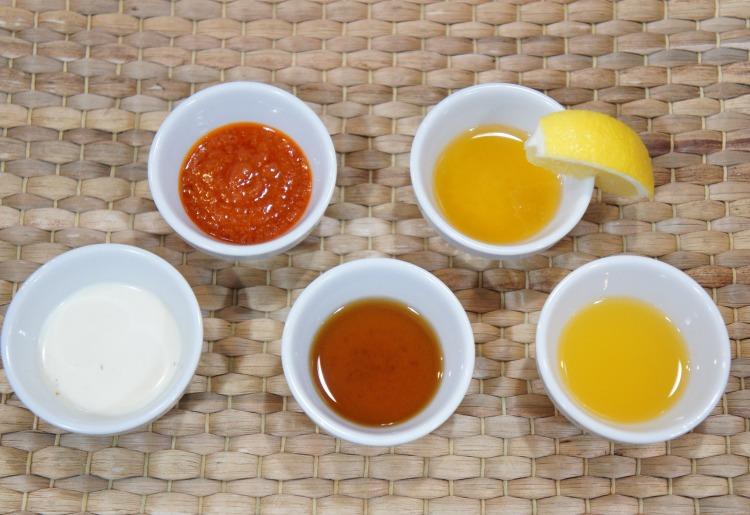 それぞれ特徴ある香味ソースによる味の違い